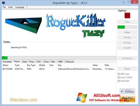 截图 RogueKiller Windows 10