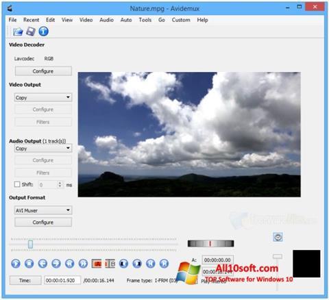 截图 Avidemux Windows 10