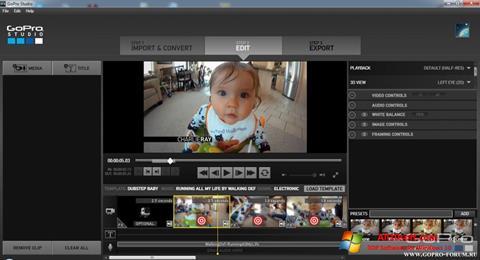 截图 GoPro Studio Windows 10