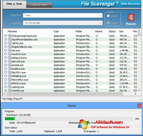 截图 File Scavenger Windows 10