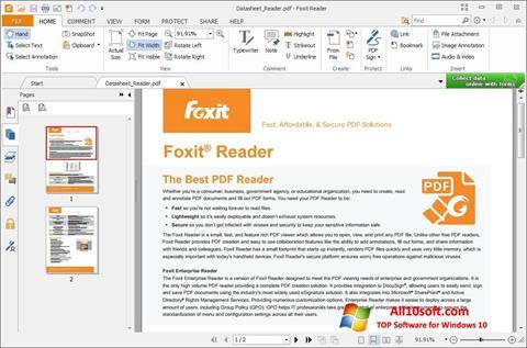 截图 Foxit Reader Windows 10