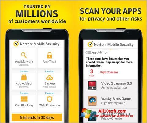 截图 Norton Mobile Security Windows 10