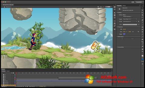 截图 Adobe Flash Professional Windows 10