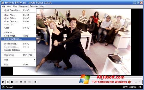截图 Media Player Classic Windows 10
