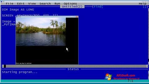 截图 QBasic Windows 10