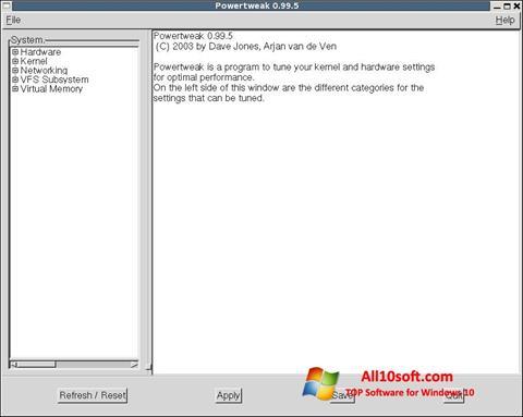 截图 PowerTweak Windows 10