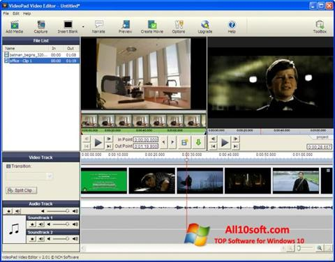 截图 VideoPad Video Editor Windows 10