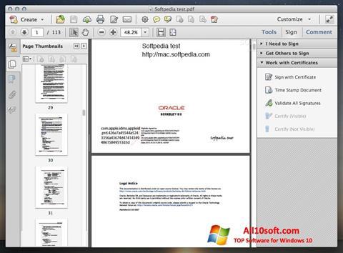 截图 Adobe Acrobat Windows 10