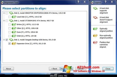 截图 Paragon Alignment Tool Windows 10