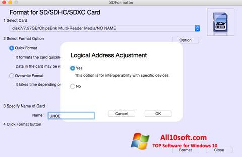截图 SDFormatter Windows 10