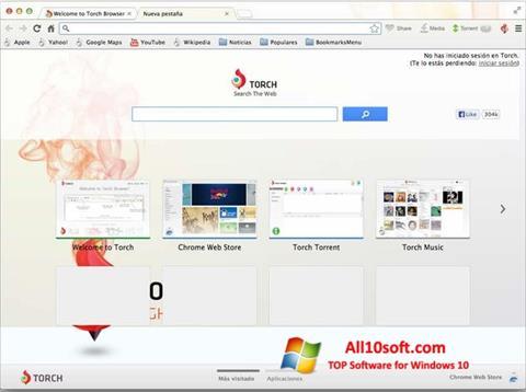 截图 Torch Browser Windows 10