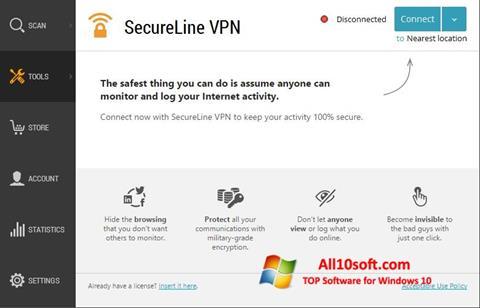 截图 Avast SecureLine VPN Windows 10