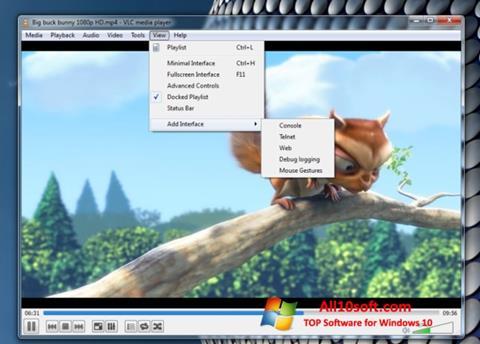 截图 VLC Media Player Windows 10