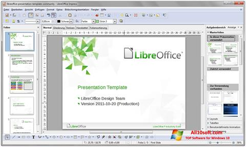 截图 LibreOffice Windows 10
