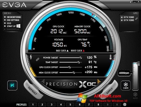 截图 EVGA Precision Windows 10