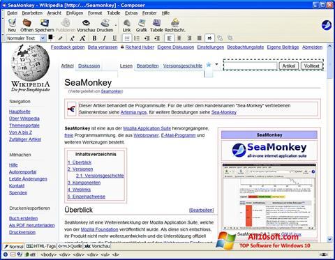 截图 SeaMonkey Windows 10