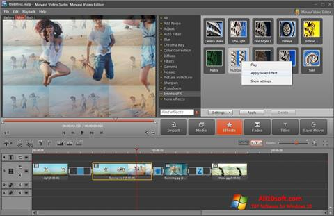 截图 Movavi Video Suite Windows 10