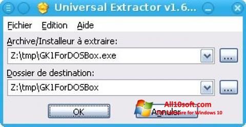 截图 Universal Extractor Windows 10