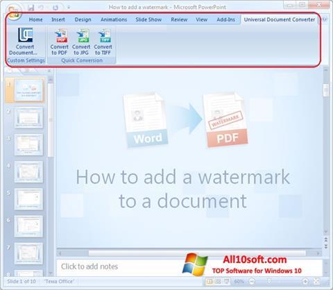 截图 Microsoft PowerPoint Windows 10