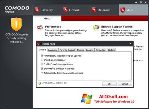 截图 Comodo Firewall Windows 10