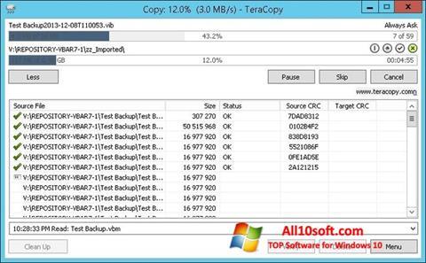 截图 TeraCopy Windows 10