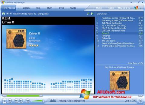 截图 Media Player Windows 10