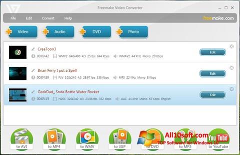 截图 Freemake Video Converter Windows 10