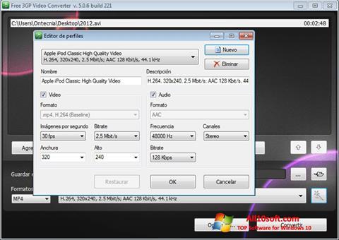 截图 Free MP4 Video Converter Windows 10