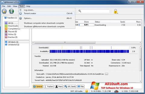 截图 qBittorrent Windows 10